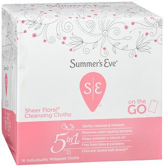SUMMERS EVE FEM CLOTH S/FLR 16
