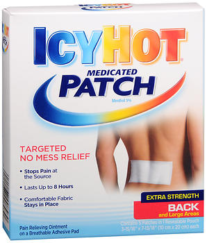 ICY HOT BACK PATCH          5S