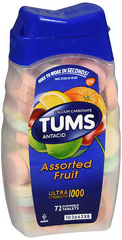 TUMS ULTRA TAB ASST FRUIT   72