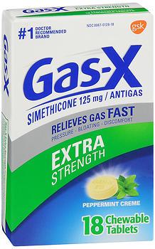 GAS-X CHEW TAB X/STR PPRMNT 18