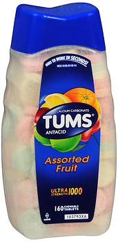 TUMS ULTRA TAB ASST FRUIT  160