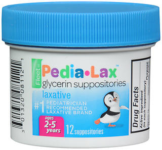 PEDIA-LAX GLYCER SUPP       12
