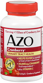AZO CRANBERRY SFT GEL M/S  100