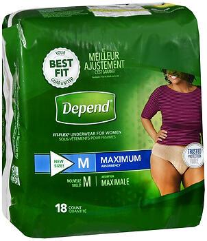 DEPEND U/W MAX ABS WMN MD18CS4