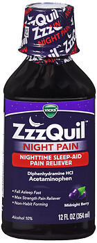 ZZZQUIL NIGHT PAIN/SLP LIQ 12Z