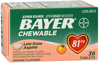 BAYER ASP CHEW 81MG ORNG    36
