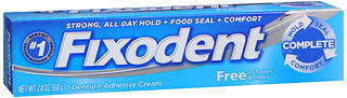 FIXODENT ADH CRM FREE    2.4OZ
