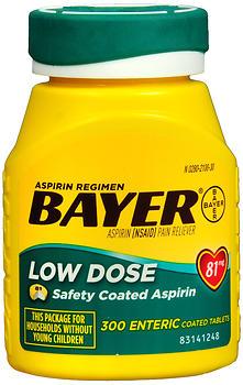 BAYER ASP REGIM TAB 81MG   300