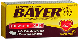 BAYER ASP TAB 325MG         50