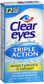 CLEAR EYES TRIPL ACT RLF 0.5OZ