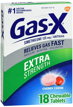GAS-X CHEW TAB X/STR CHERRY 18