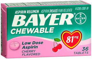 BAYER ASP CHEW TAB CHERRY   36
