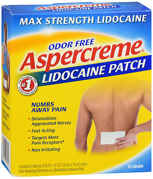 ASPERCREME LIDOCAINE PATCH 5CT