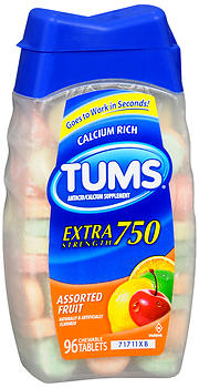 TUMS E-X TAB ASST           96